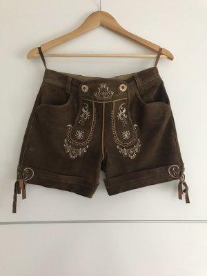 Stockerpoint Folkloristische broek wit-bruin