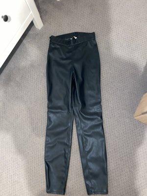 Rich & Royal Pantalone in pelle verde scuro