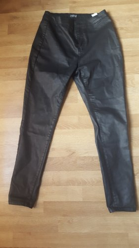 Even & Odd Leather Trousers black
