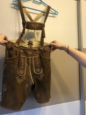 alm sach Tradycyjne skórzane spodnie brąz-brązowy