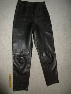 Leather Trousers dark brown leather