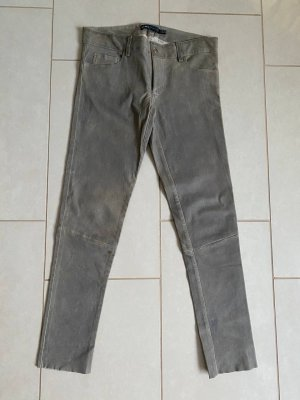 Arma Collection Leather Trousers grey brown