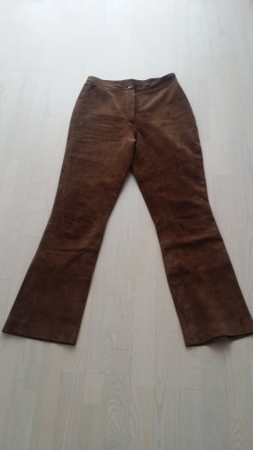 Skórzane spodnie brązowy