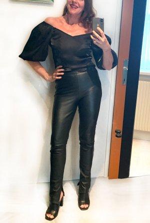 Lederhose aus Italien, Vera Pelle,echtes handschuhweiches Leder, schwarz ,Gr. 36
