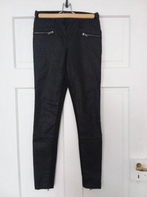 Zara Trafaluc Leather Trousers black