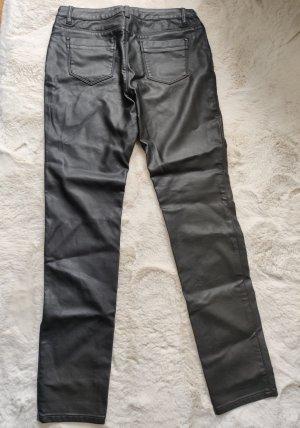 123 Paris Spodnie z imitacji skóry czarny