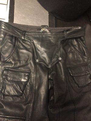 Evolution Skórzane spodnie czarny Skóra