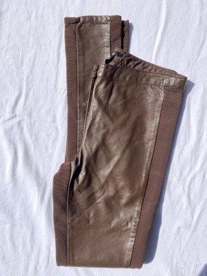 H&M Pantalón de cuero marrón