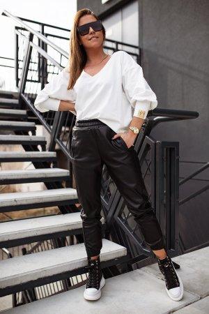 Bastet Pantalone in pelle nero