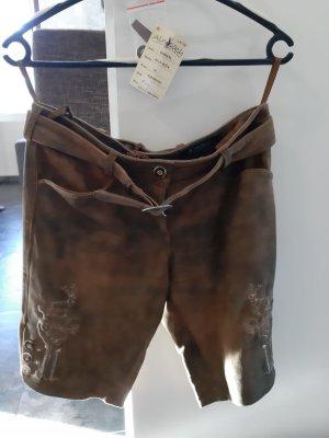 Almsach Pantalón de cuero marrón