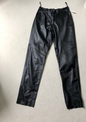 Per Me Leather Trousers black leather
