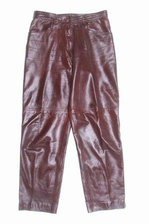 Pantalón de cuero marrón Cuero