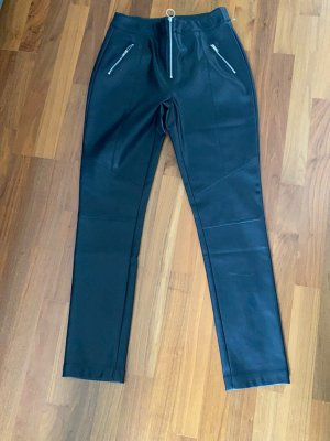 Tally Weijl Leather Trousers black