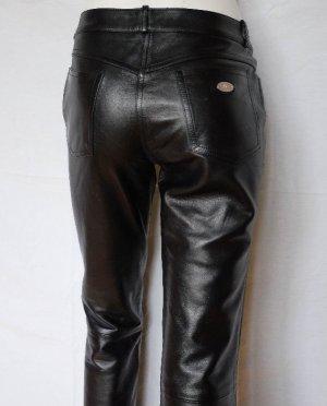 Celine Paris Pantalón de cuero negro Cuero