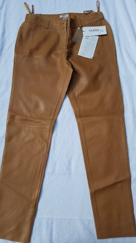 Class International Leather Trousers light brown