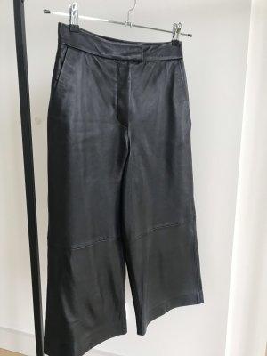 Mango Falda pantalón de pernera ancha negro Cuero