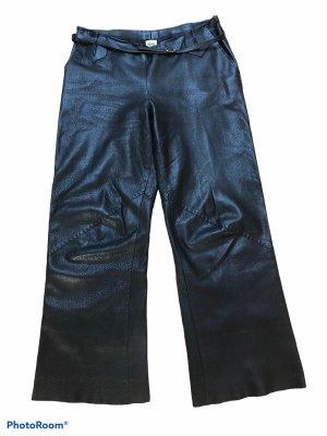 Hermès Leather Trousers black
