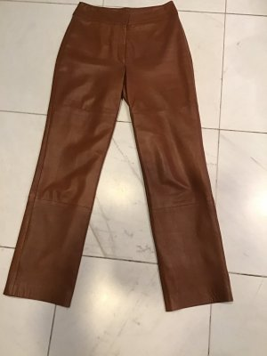 Bianca Leather Trousers cognac-coloured