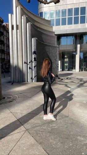 Only Skórzane spodnie czarny