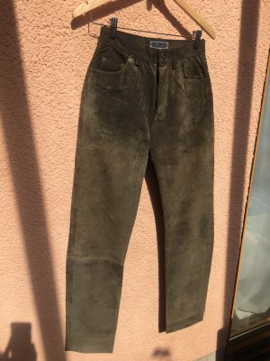 Enjoy Traditional Leather Trousers khaki