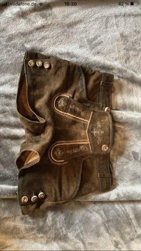 Sonstige Tradycyjne skórzane spodnie brązowy-czarno-brązowy