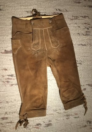 Meindl Pantalon traditionnel en cuir beige cuir