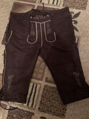 Pantalón de cuero tradicional marrón