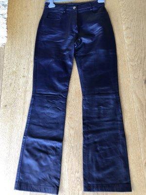 Dolce & Gabbana Pantalone in pelle viola scuro-blu scuro