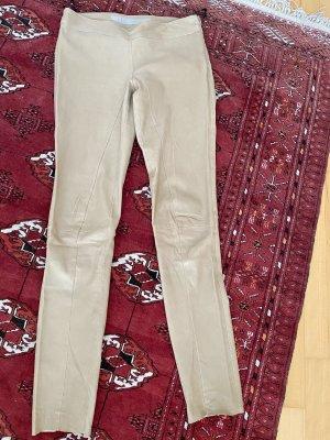 Drome Pantalón de cuero beige