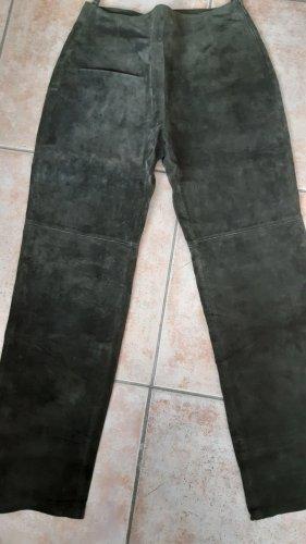 Pantalón de cuero caqui