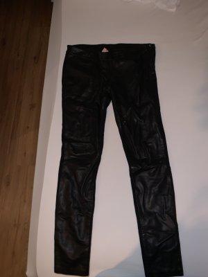 Goosecraft Pantalón de cuero negro