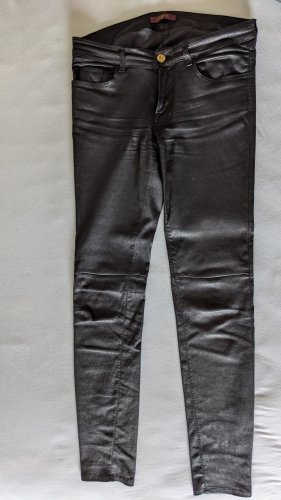 7 For All Mankind Pantalone in pelle nero