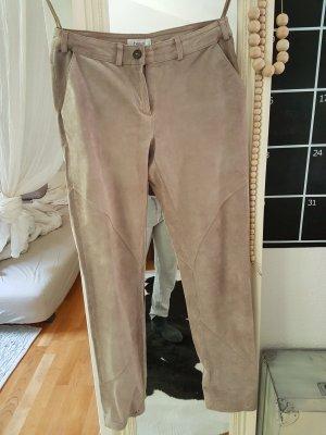 Heine Leather Trousers oatmeal-beige