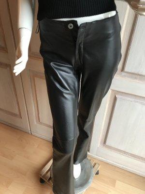 Lederhose Echtleder schwarz echtes Leder 36 Vintage