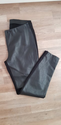 Taifun Leather Trousers black