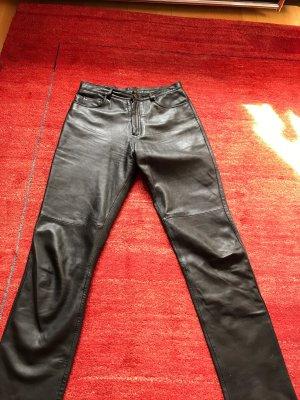 Gipsy Skórzane spodnie czarny