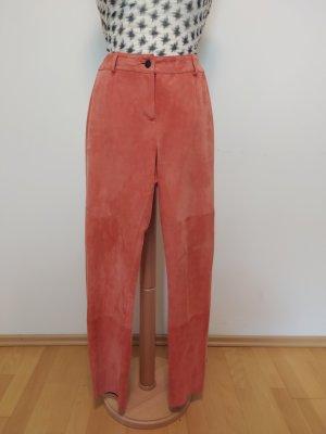 Alba Moda Leather Trousers apricot leather