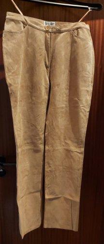 Boysens Skórzane spodnie jasnobrązowy-beżowy