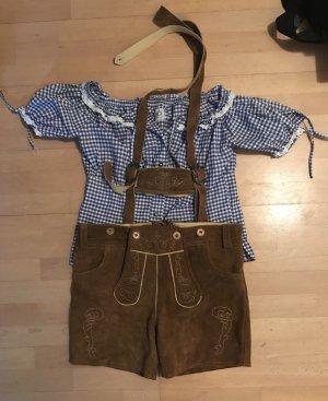Pantalon traditionnel en cuir multicolore cuir