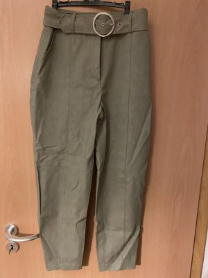 Zara Pantalone in pelle multicolore Poliammide