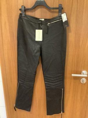 by Malene Birger Leather Trousers black
