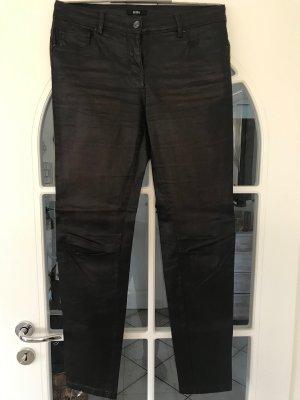 Pantalón de cuero marrón oscuro