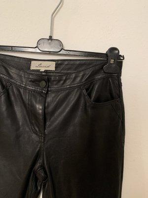 Lucid21 Five-Pocket Trousers black imitation leather