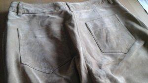 Biba Pantalone in pelle bianco