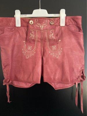 Stockerpoint Pantalón de cuero tradicional color rosa dorado Cuero