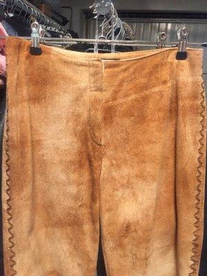 Virmani Pantalón de cuero coñac-marrón claro Cuero