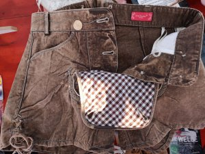 Krüger Pantalon traditionnel en cuir marron clair
