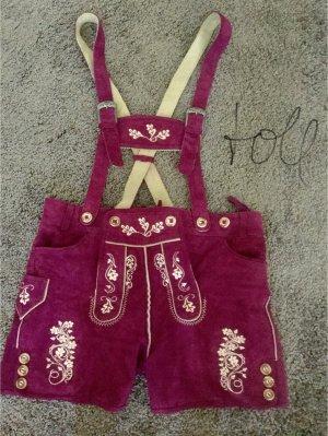 Tradycyjne skórzane spodnie Wielokolorowy
