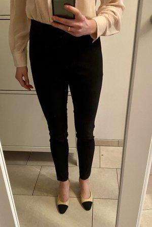 American Vintage Pantalón de cuero negro
