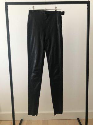 Selected Femme Pantalón de cuero negro Cuero
